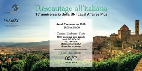 Réseautage all'italiana billets