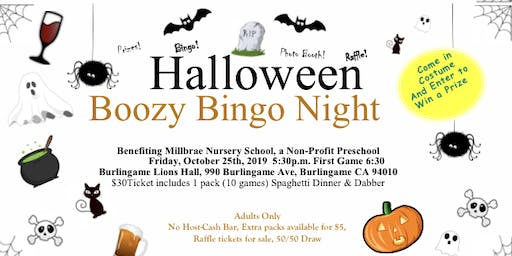 Halloween Boo zy Bingo Night 2019
