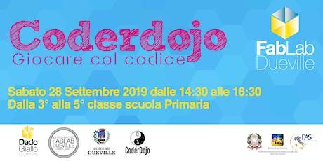 Coderdojo Dueville 28 Settembre 2019 biglietti