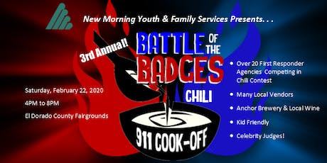 """New Morning's  3rd annual """"Battle of the Badges - 911 Chili Cook-Off"""" 2020 tickets"""