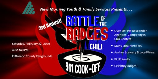 "New Morning's  3rd annual ""Battle of the Badges - 911 Chili Cook-Off"" 2020"