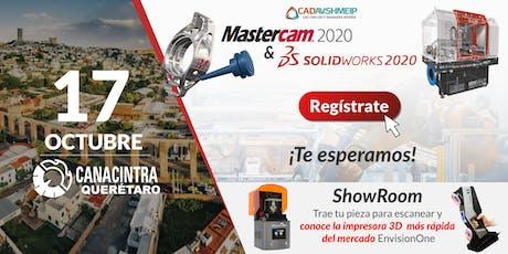 Lanzamiento SolidWorks & Mastercam 2020, Querétaro boletos