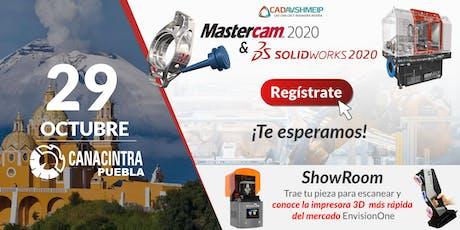 Lanzamiento SolidWorks & Mastercam 2020, Puebla boletos