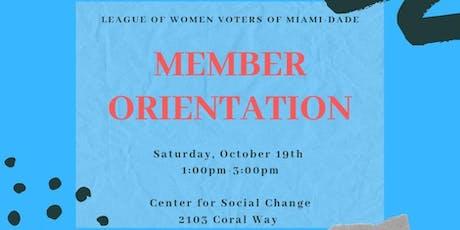LWV Miami-Dade Member Orientation tickets