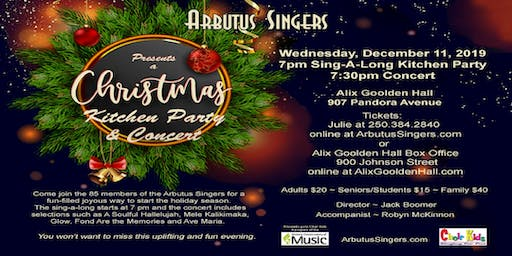 Arbutus Singers Christmas and Carol Sing