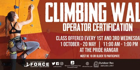 EAFB - Climbing Wall Operator Certification tickets