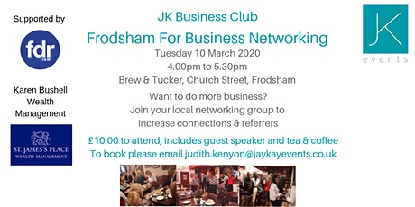 JK Business Club Frodsham For Business tickets