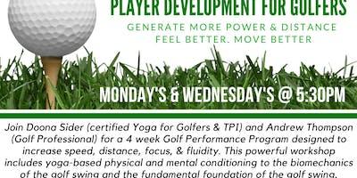 Player Development for Golfers