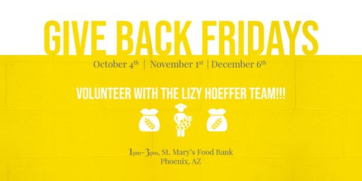 Give Back Fridays with The Lizy Hoeffer Team