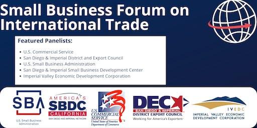 Small Business Forum on International Trade
