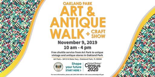 Oakland Park Art & Antique Walk + Craft Show