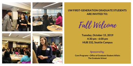 2019 Fall Welcome for UW First-Generation Graduate Students tickets