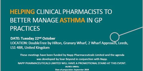 Asthma Training for Clinical Pharmacists in General Practice tickets