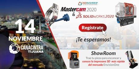 Lanzamiento SolidWorks & Mastercam 2020, Tijuana B.C entradas