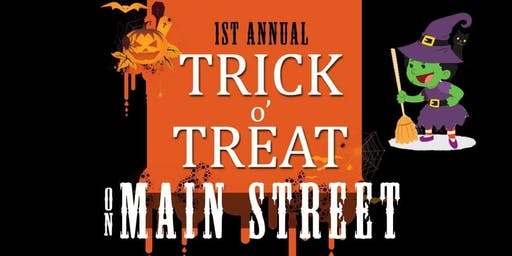 The 1st Annual Trick or Treat on Main St