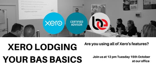 Xero Session: Lodging your BAS basics