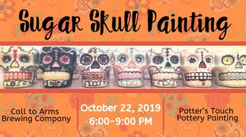 Sugar Skull Painting at Call to Arms Brewing Company