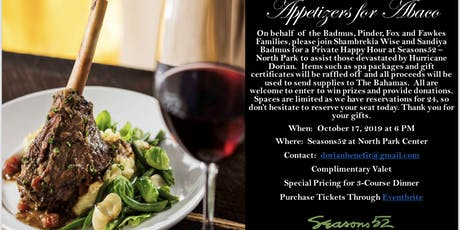 Appetizers for Abaco tickets