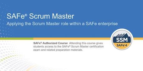 SAFe® Scrum Master 4.6 Training with SSM Certification (WILL RUN) tickets