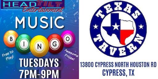 Music Bingo at Texas Tavern - Cypress, TX