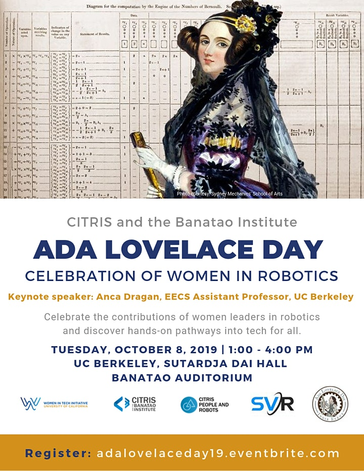 Ada Lovelace Day Celebration of Women in Robotics image