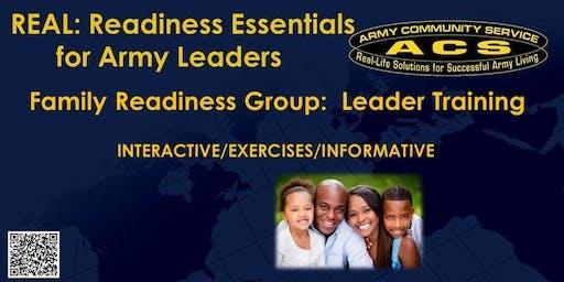 R.E.A.L SFRG: Leader Training - Evening Session