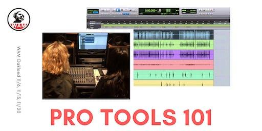 Pro Tools 101 - 3 Wednesdays starting November 6th!