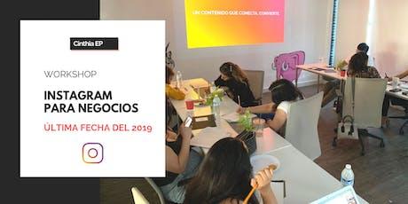 Workshop: Instagram para Negocios | Última fecha del 2019 boletos