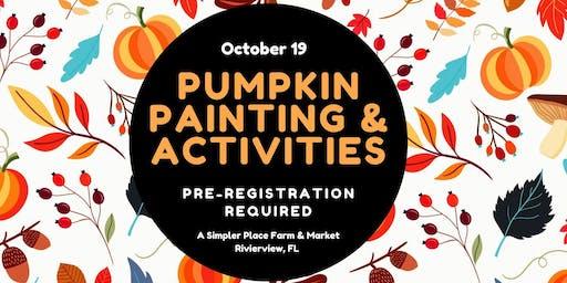 Pumpkin Painting & Activities