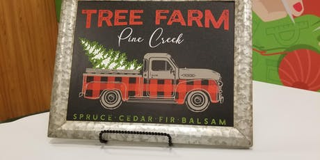 Vintage Truck Sign w/ Karen tickets