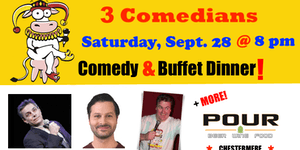 SATURDAY, September 28 @ 6 pm - FunnyFest Comedy...