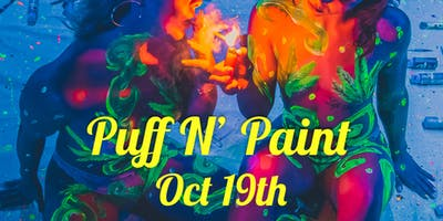 Puff N Paint Worldwide Halloween UV Session
