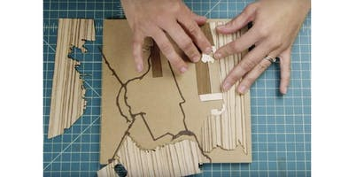 Team Building Custom Wood-Inlay Mapmaking Workshop (PRIVATE, MISSION GARDEN STUDIO) (2019-12-16 starts at 3:30 PM)