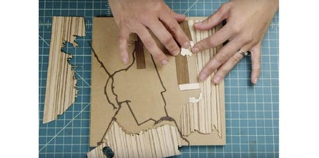 Team Building Custom Wood-Inlay Mapmaking Workshop (PRIVATE, MISSION GARDEN STUDIO) (2019-10-17 starts at 3:30 PM) tickets