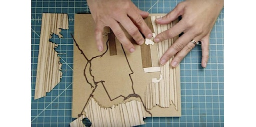 Team Building Custom Wood-Inlay Mapmaking Workshop (PRIVATE, MISSION GARDEN STUDIO) (12-18-2019 starts at 3:30 PM)