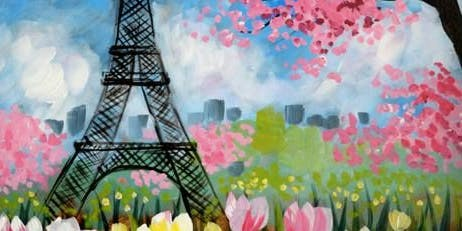 Paint Night in Canberra: Spring in Paris