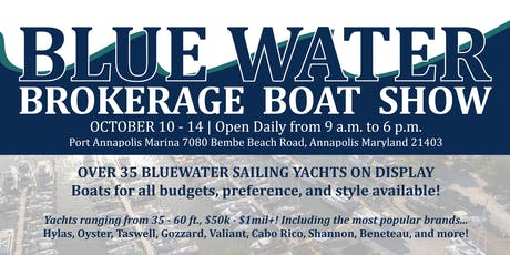 2019 Bluewater Brokerage Show - Oct 10 - 14 tickets