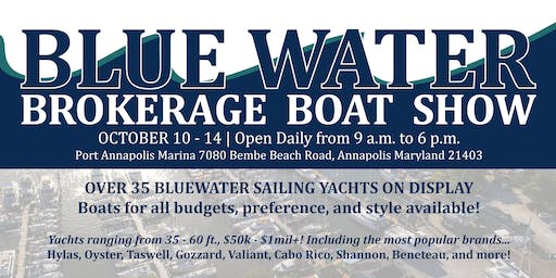 2019 Bluewater Brokerage Show - Oct 10 - 14