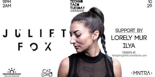 Techno Taco Tuesday Denver: Juliet Fox