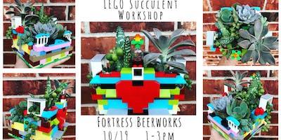 LEGO Succulent Workshop at Fortress Beerworks