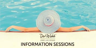 Del Webb Lake Las Vegas Information Sessions