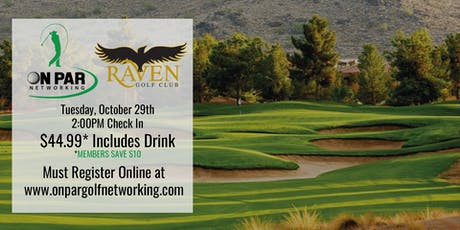 On Par Golf Networking October Raven Event tickets