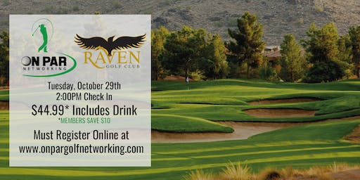 On Par Golf Networking October Raven Event