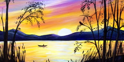 Paint Night in Canberra: Sunset over Lake