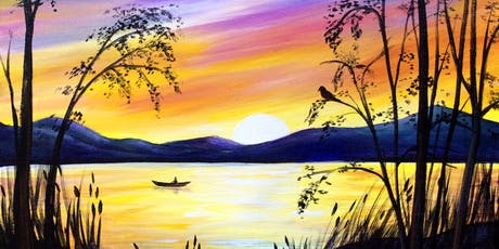 Paint Night in Canberra: Sunset over Lake tickets