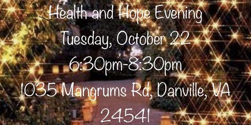 Health and Hope Evening