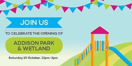 Addison Park & Wetland Opening