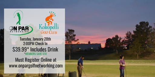 On Par Golf Networking January Kokopelli Event