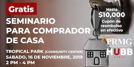 Seminario gratuito de compradores de viviendas entradas