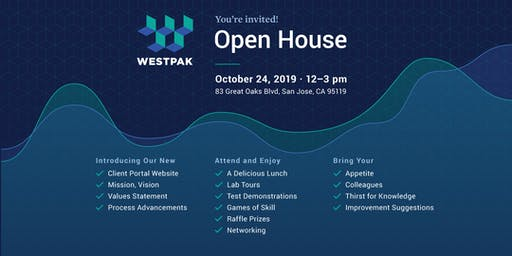 Open House - WESTPAK San Jose Test Lab | Thurs, Oct 24